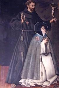 Santa Beatriz y San Francisco de Asís. Monasterio de la Concepción de Ágreda