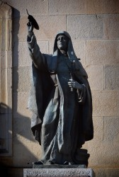 Escultura de sor María de Jesús en la Diputación de Soria-España