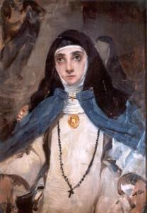 Retrato de  María  de Jesús a los 18 años por Maximino Peña