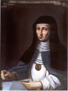Retrato de Sor Mª de Jesús.Siglo XVII