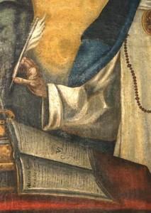 Detalle cuadro de Sor María de Jesús. Estella