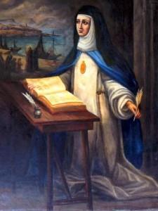 Pintura de Sor María de Jesús