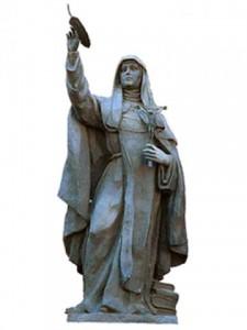 Escultura de Sor María en la Diputación de Soria. España