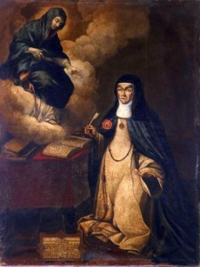 Painting of Sister María of Jesús for fray Antonio Martorell