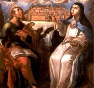 Detalle. Sor Maria de Jesús y San Juan Evangelista