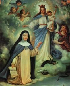 Santa Beatriz da Silva com a Imaculada e o Menino