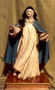 Talla de Sor Mª de Jesús atribuida a Luis Salvador Carmona, de 1765